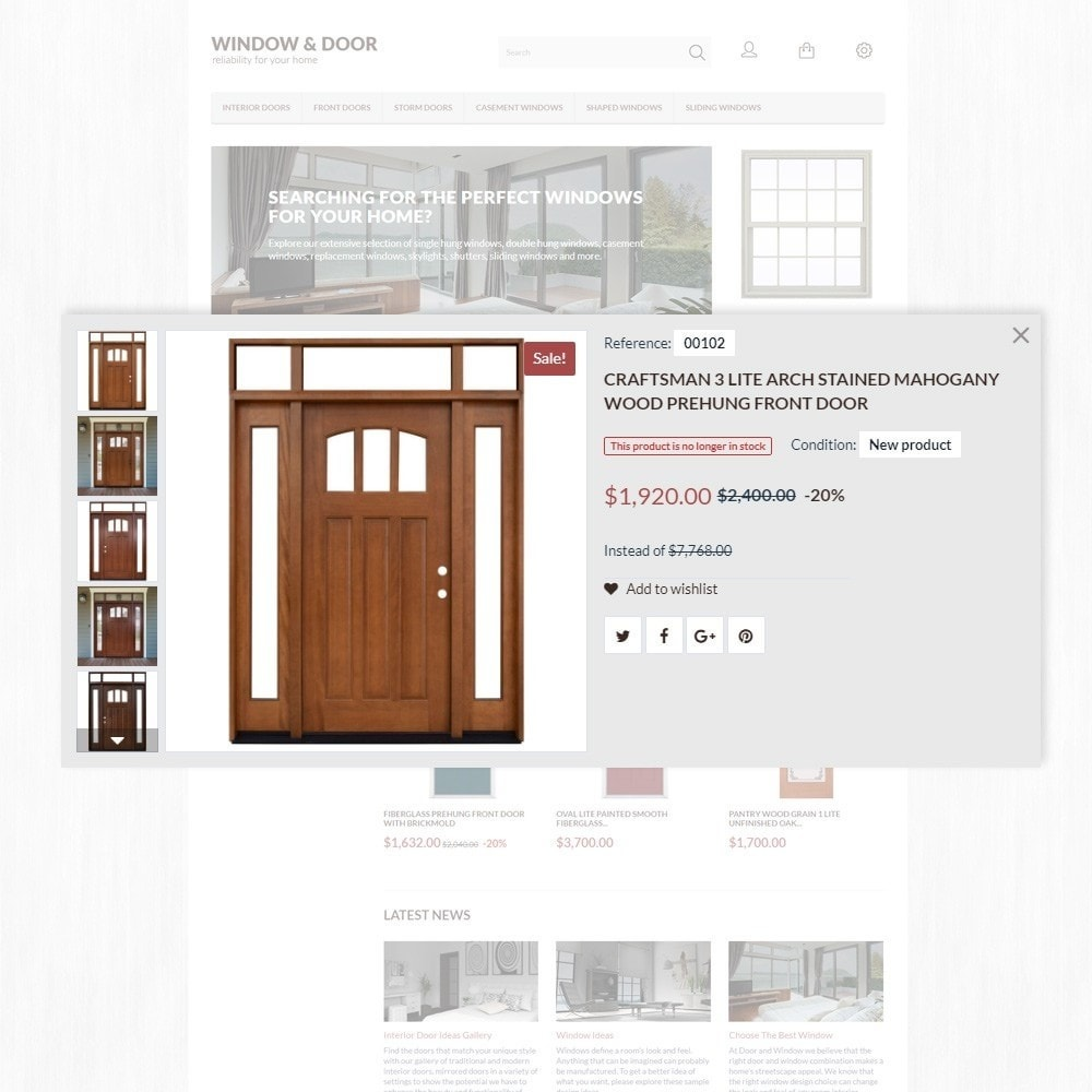 theme - Дом и сад - Window Door PrestaShop шаблон по продаже окон и дверей - 4