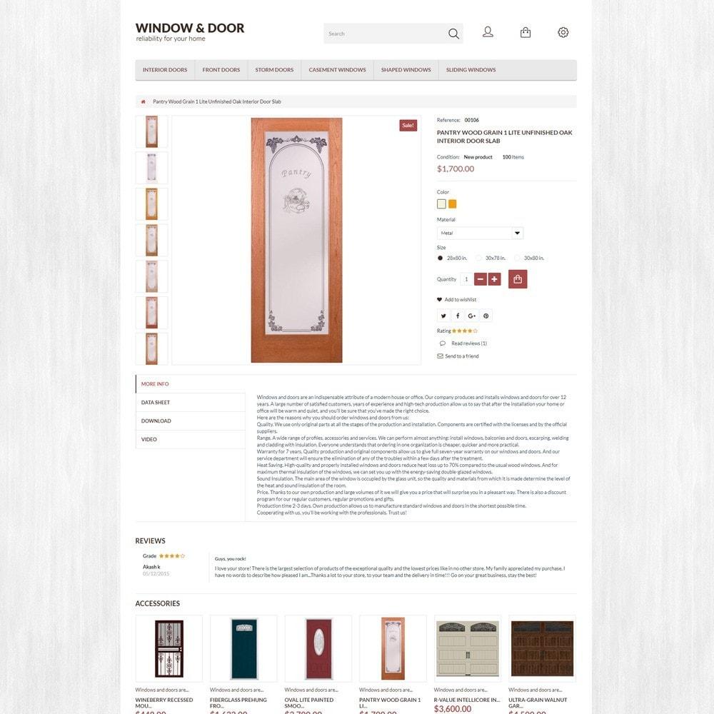 theme - Дом и сад - Window Door PrestaShop шаблон по продаже окон и дверей - 5