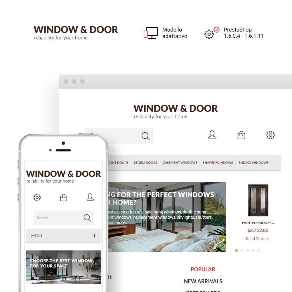 theme - Casa & Giardino - Modello PrestaShop Bootstrap per Un Sito di Finestre - 1