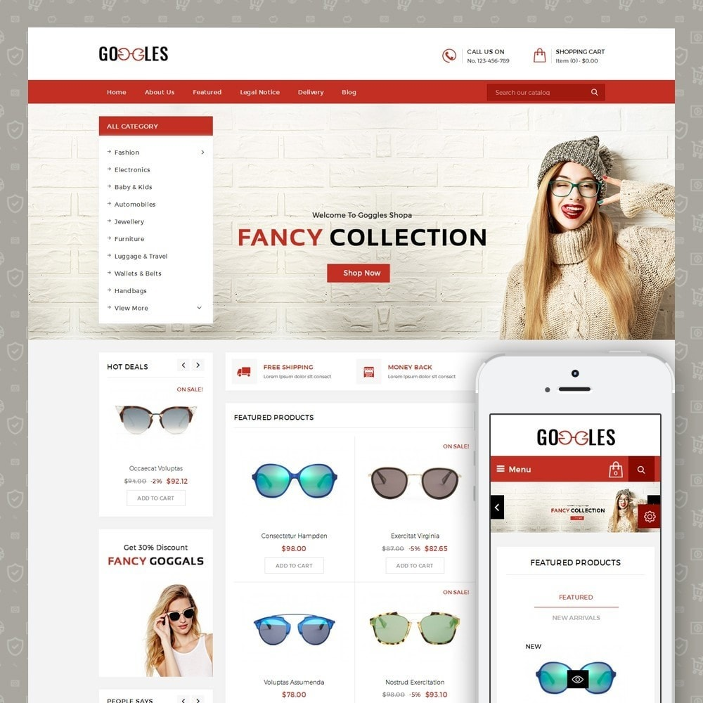 theme - Mode & Chaussures - Goggles Shop - 1