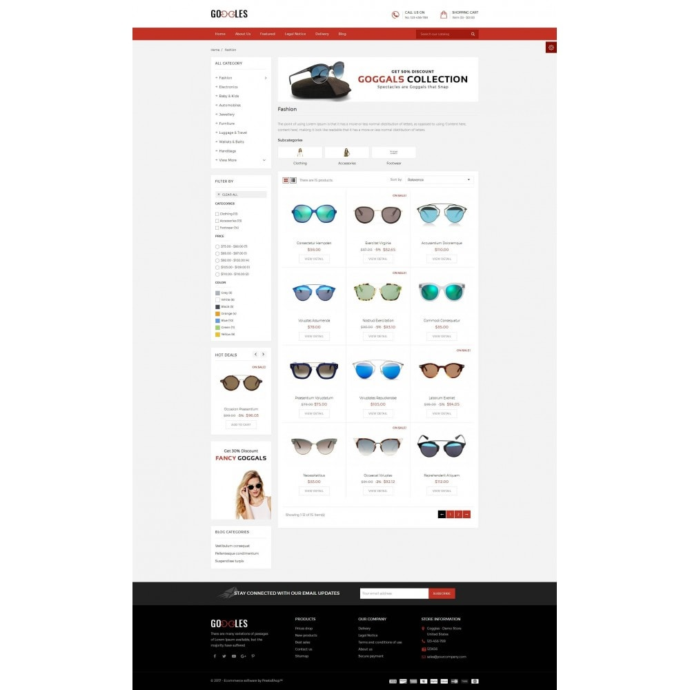 theme - Mode & Chaussures - Goggles Shop - 3
