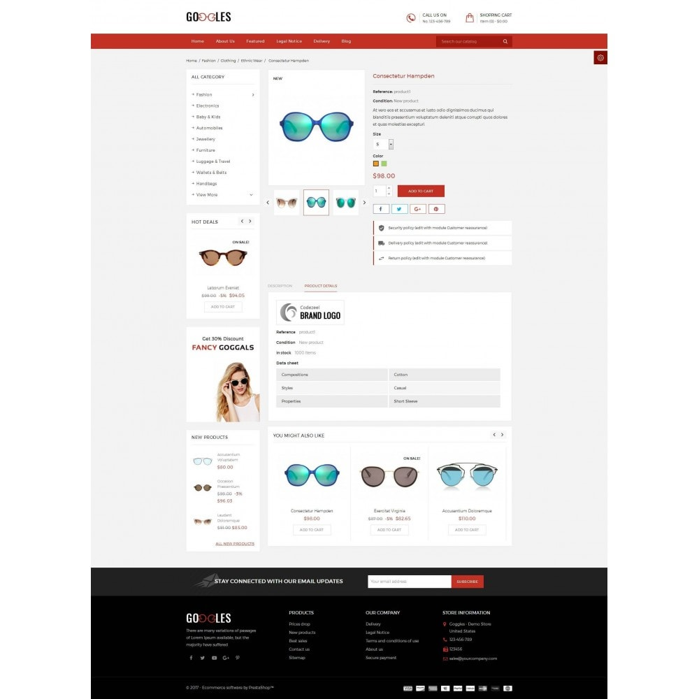 theme - Mode & Chaussures - Goggles Shop - 5