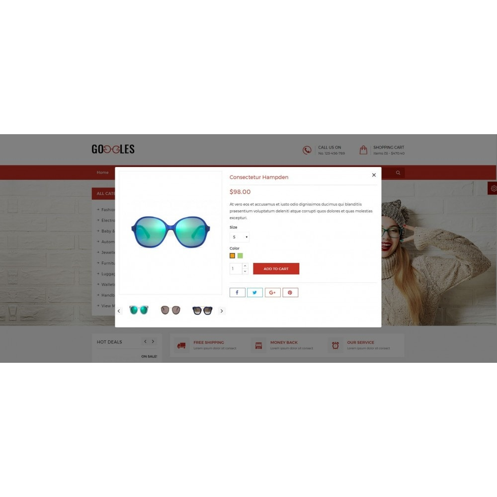 theme - Mode & Chaussures - Goggles Shop - 7