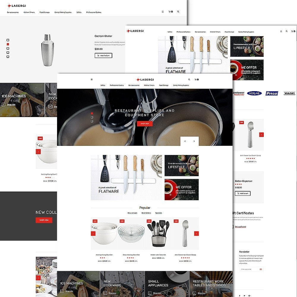 theme - Alimentos & Restaurantes - Glasergi - Cookware & Appliances PrestaShop Theme - 2