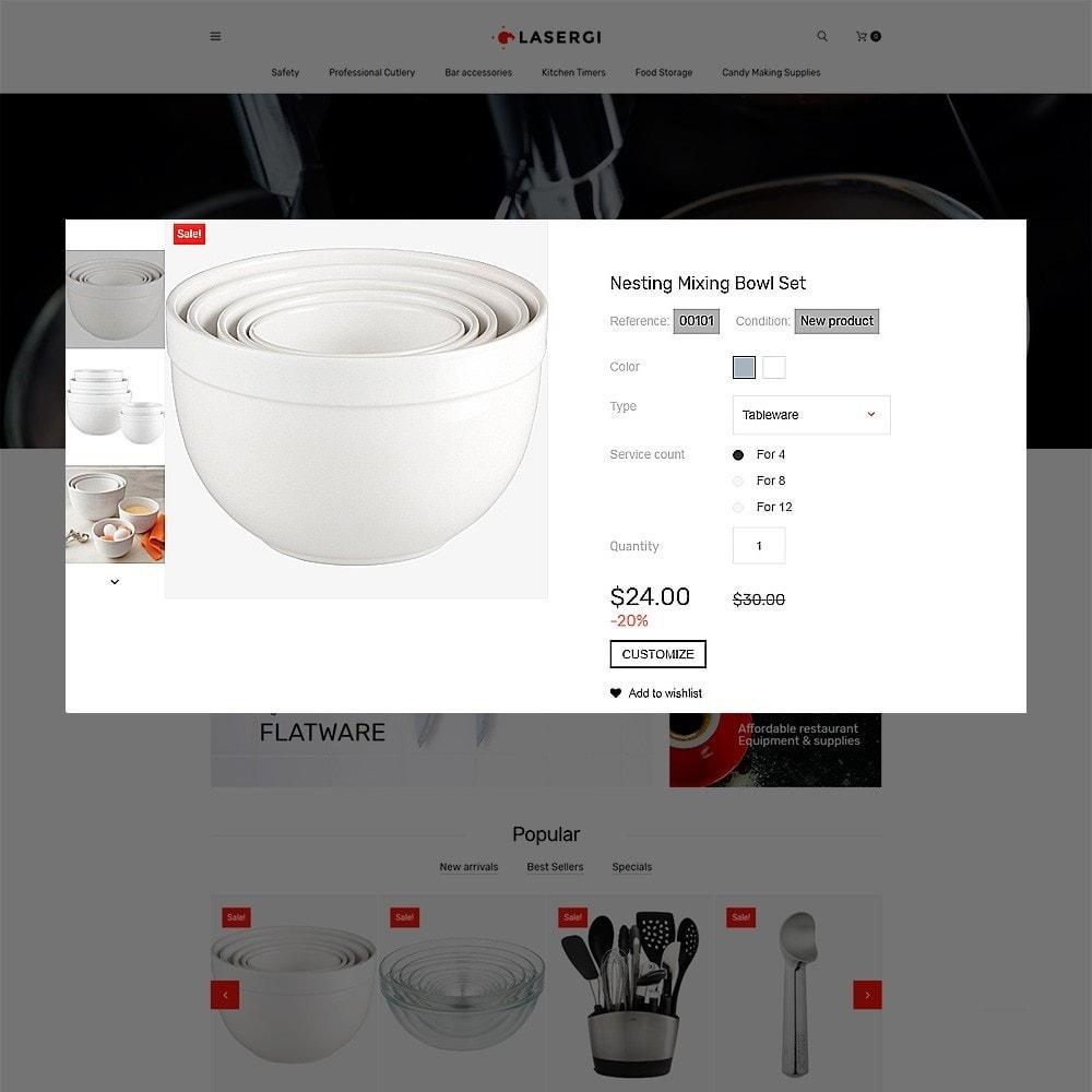 theme - Продовольствие и рестораны - Glasergi - шаблон оборудования для кафе и ресторанов - 3