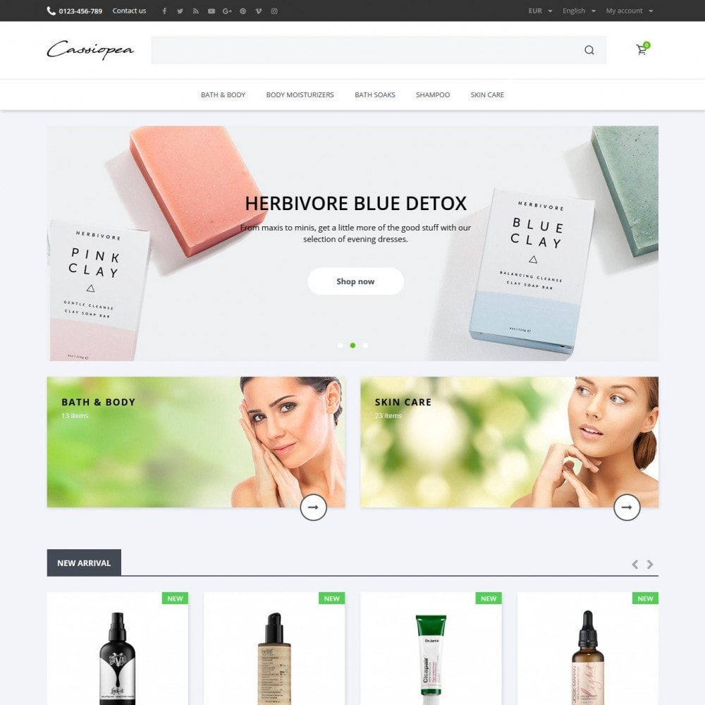 theme - Health & Beauty - Cassiopea Cosmetics - 2