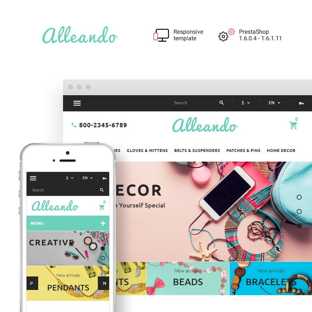 theme - Regalos, Flores y Celebraciones - Alleando - Decor  Accessories Responsive - 1
