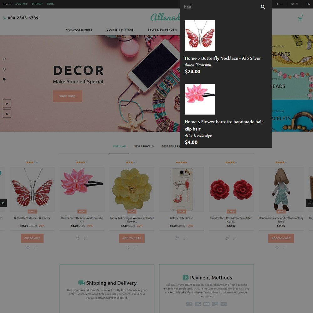 theme - Geschenke, Blumen & Feiern - Alleando - Decor Accessories PrestaShop Theme - 6