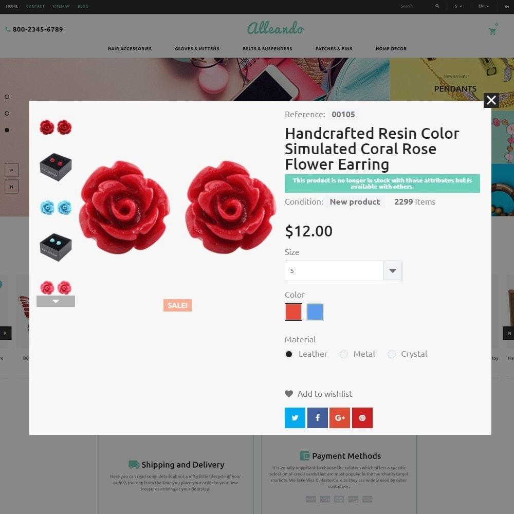 theme - Подарки, Цветы и праздничные товары - Alleando - шаблон по продаже декора и аксессуаров - 4