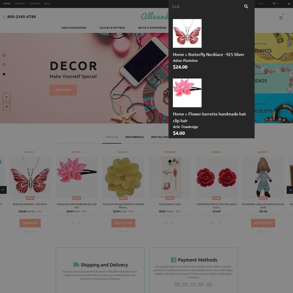 theme - Подарки, Цветы и праздничные товары - Alleando - шаблон по продаже декора и аксессуаров - 7