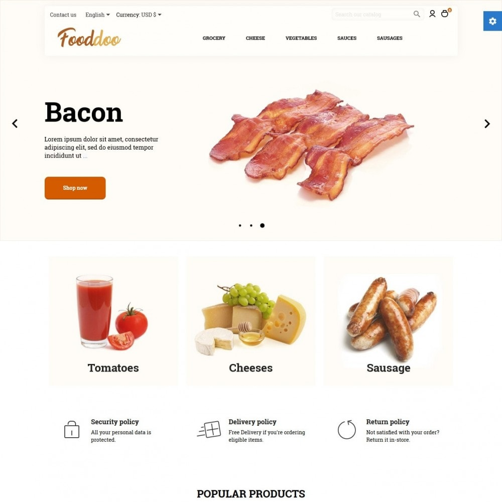 theme - Lebensmittel & Restaurants - Fooddoo - 2
