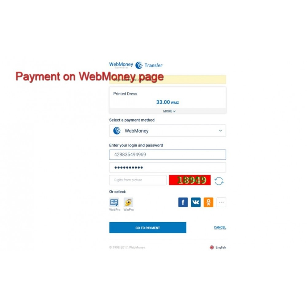module - Payment by Card or Wallet - WebMoney Payments - 6