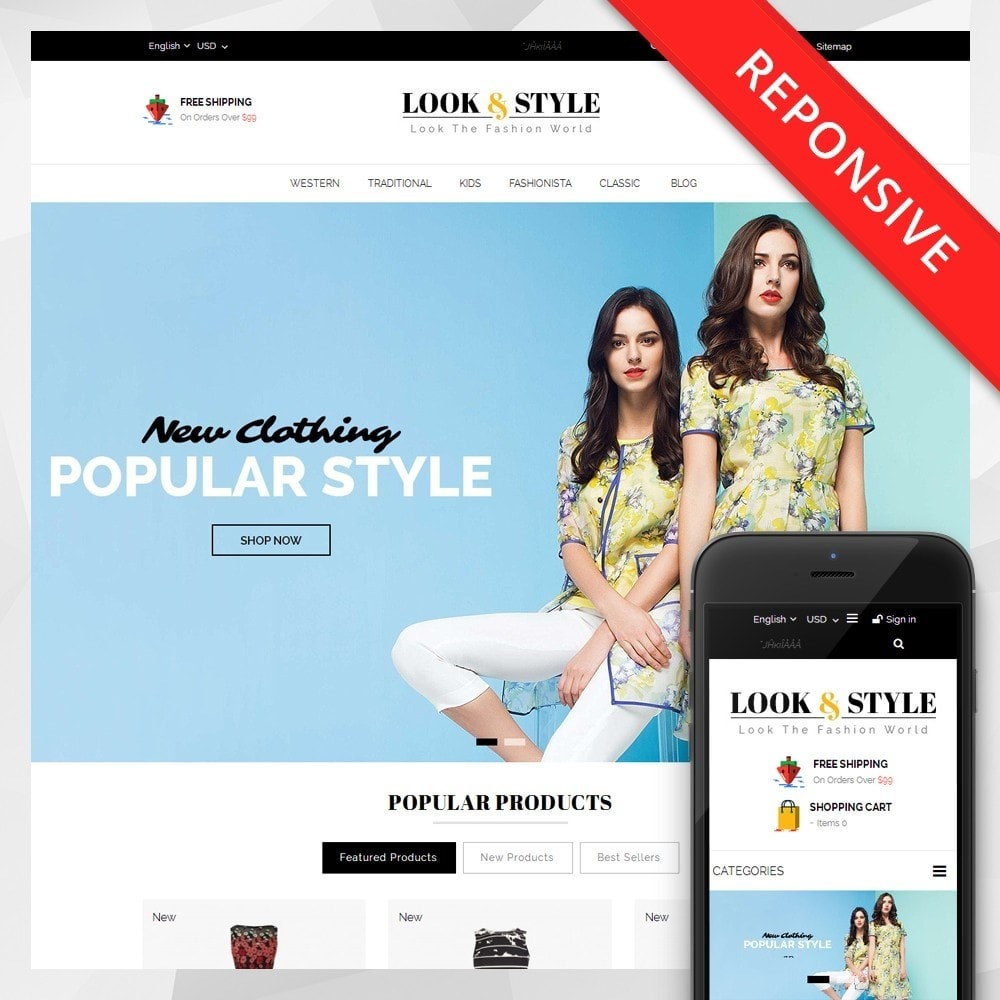 theme - Мода и обувь - Look & Style - Fashion Store - 1