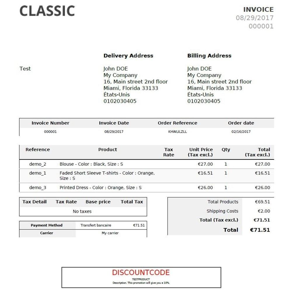 module - Descuentos en redes sociales - Add Discount Code in Invoice - 3