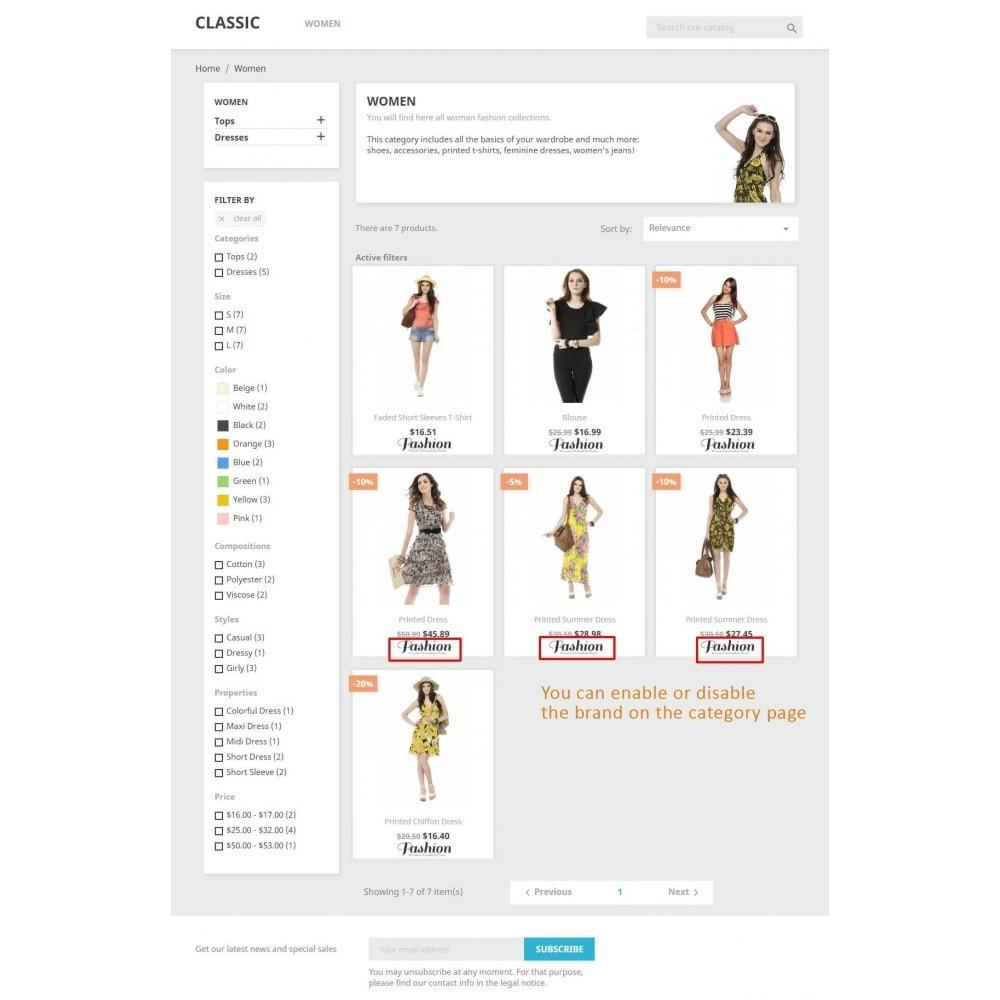 module - Marques & Fabricants - Bloc fabricant et Fournisseur sur la page du produit - 2