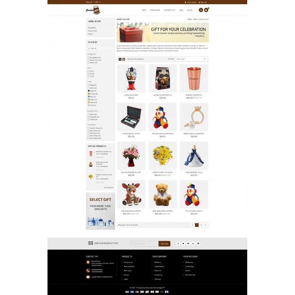 theme - Presentes, Flores & Comemorações - Smilergift - Gift Store - 3