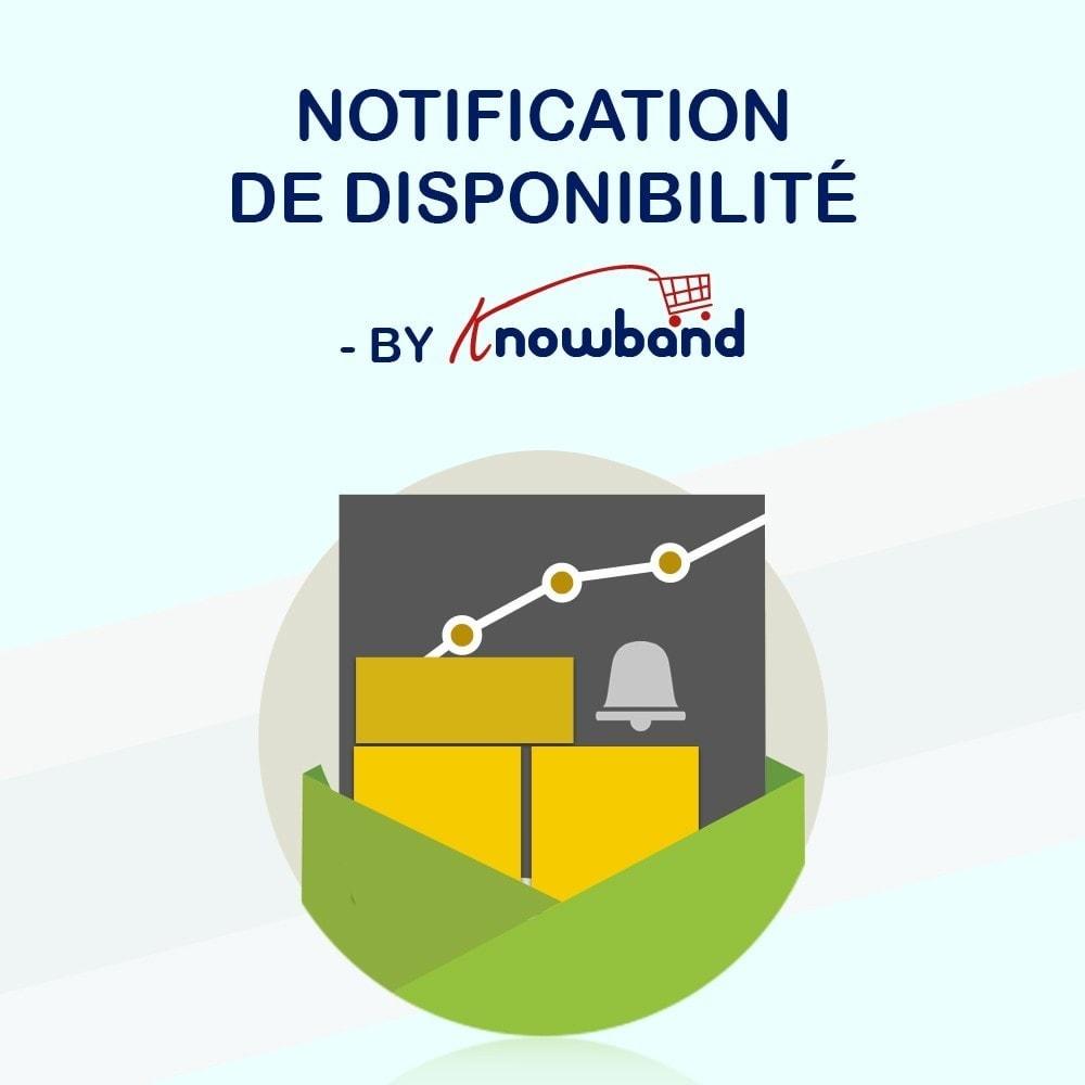 module - E-mails & Notifications - Knowband - Notification de Disponibilité - 1