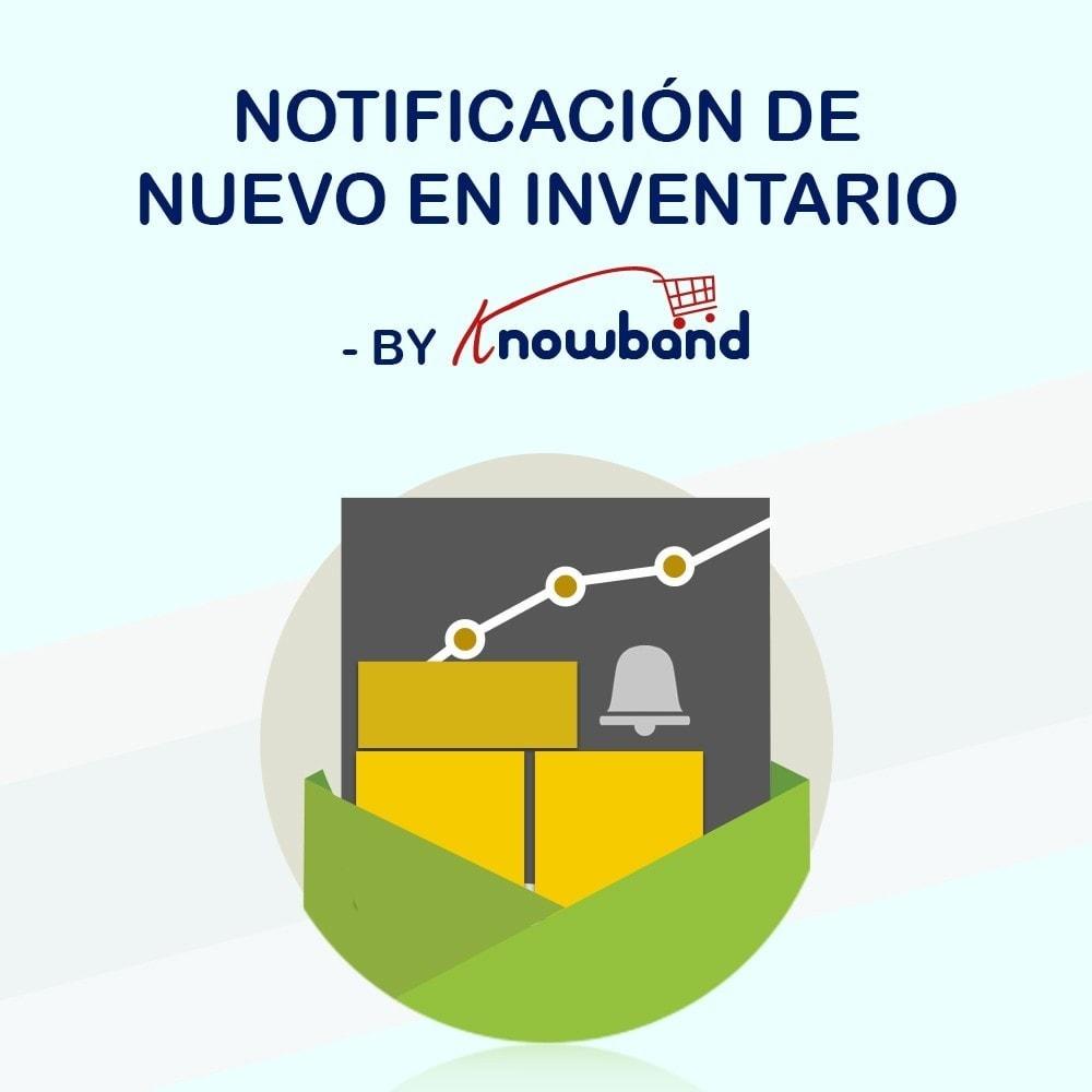 module - E-mails y Notificaciones - Knowband - Notificación De Nuevo En Inventario - 1