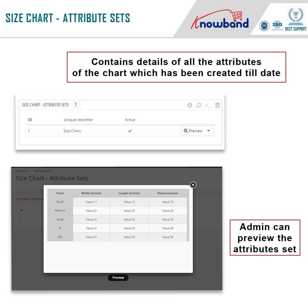 module - Zusatzinformationen & Produkt-Tabs - Knowband - Product size chart - 3