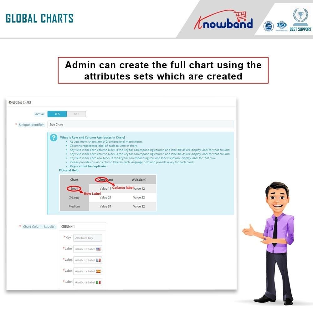 module - Zusatzinformationen & Produkt-Tabs - Knowband - Product size chart - 4