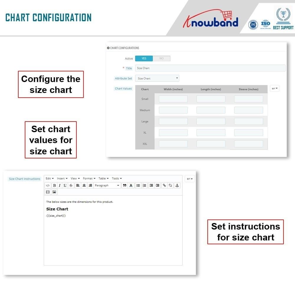 module - Bijkomende Informatie - Knowband - Product size chart - 6