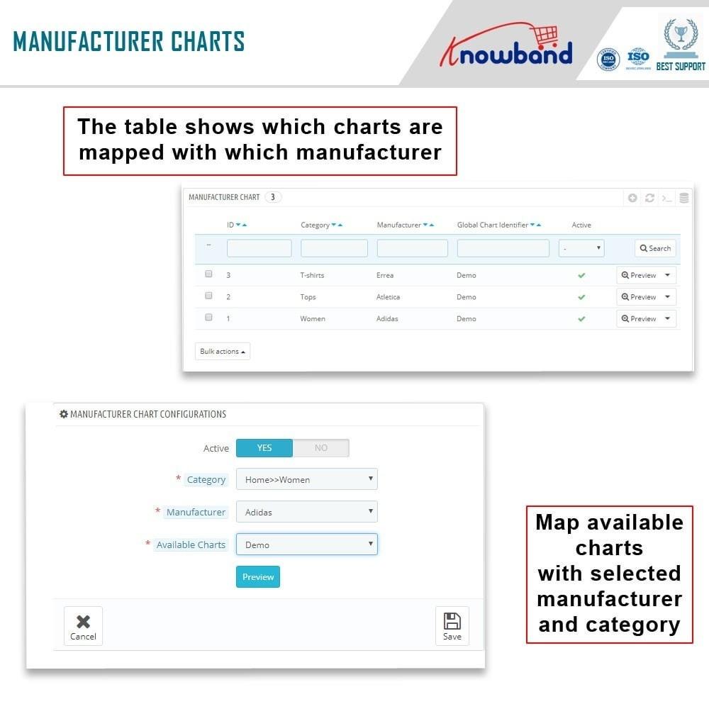 module - Zusatzinformationen & Produkt-Tabs - Knowband - Product size chart - 7