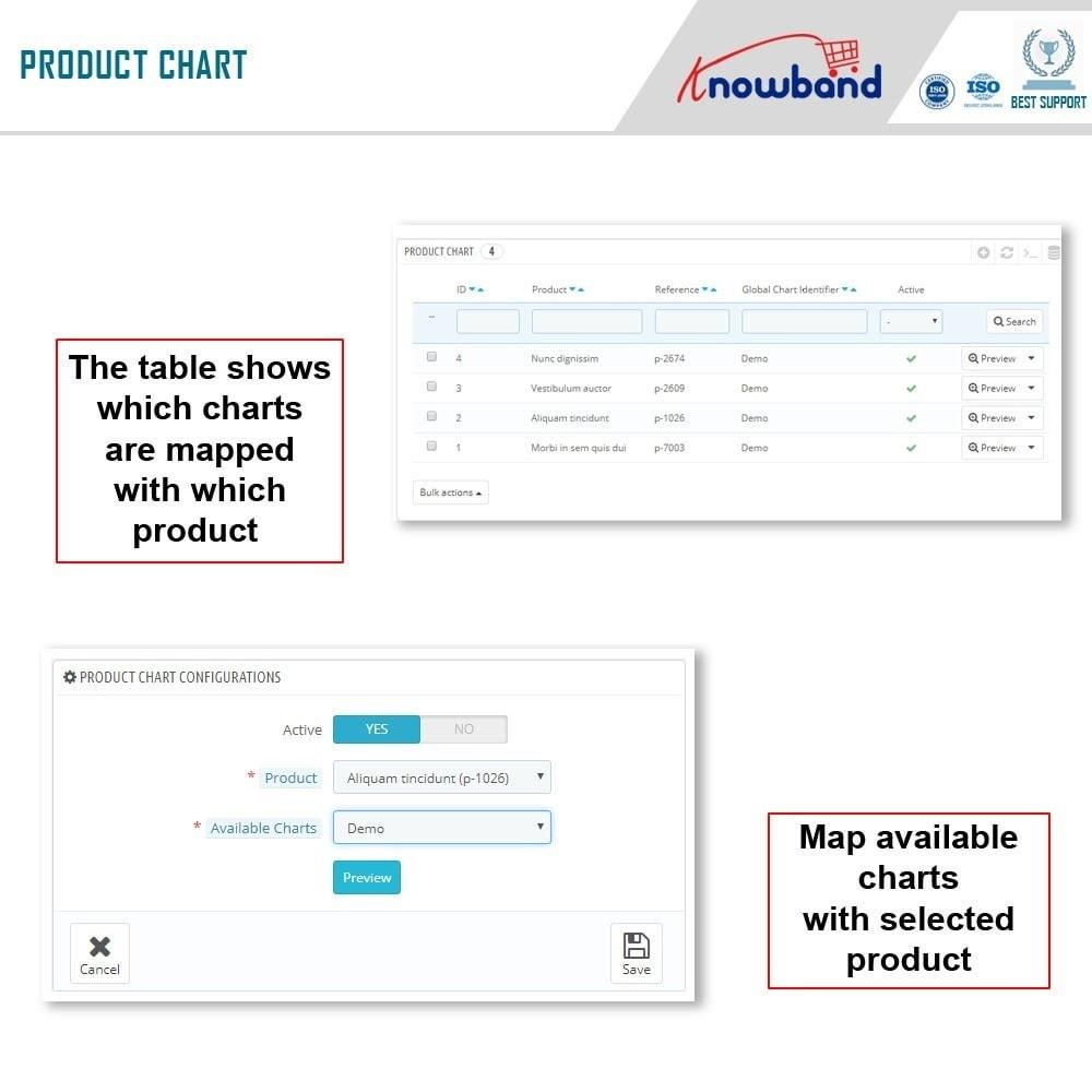 module - Zusatzinformationen & Produkt-Tabs - Knowband - Product size chart - 9