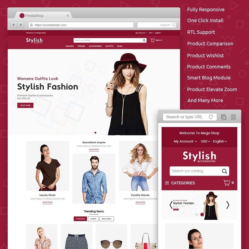 theme - Mode & Chaussures - Stylish Fashion Store - 1
