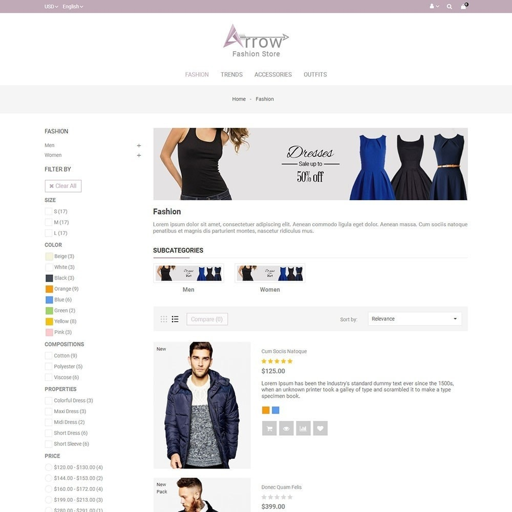theme - Mode & Schoenen - Arrow Fashion Store - 4