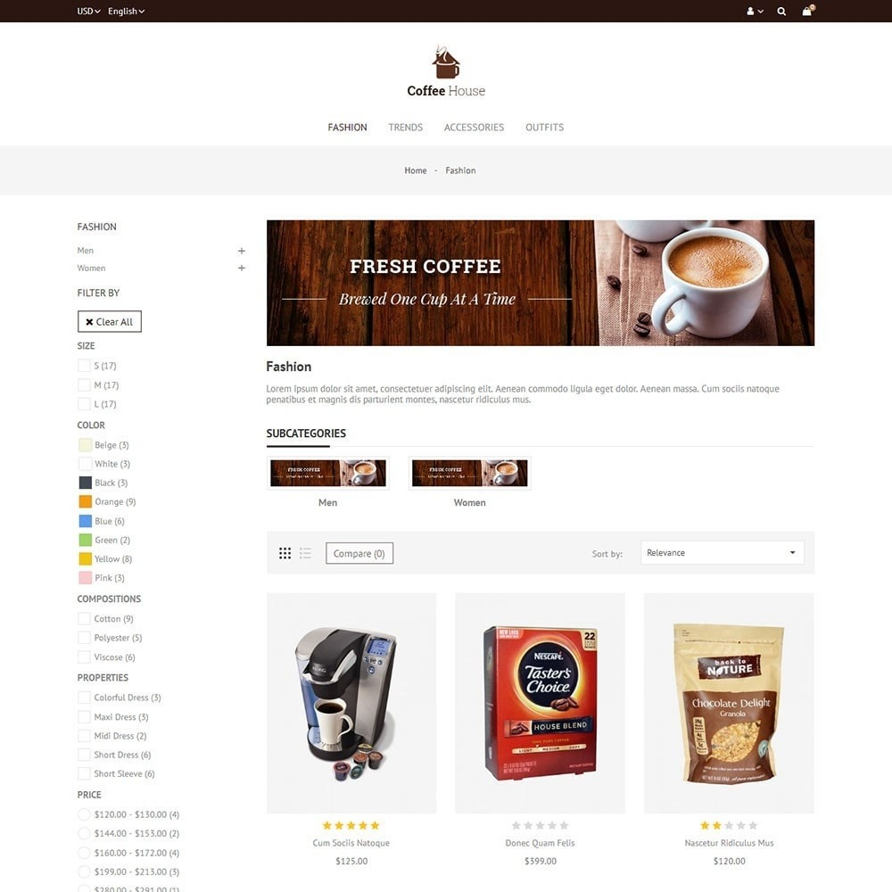 theme - Food & Restaurant - Coffee House Store - 3