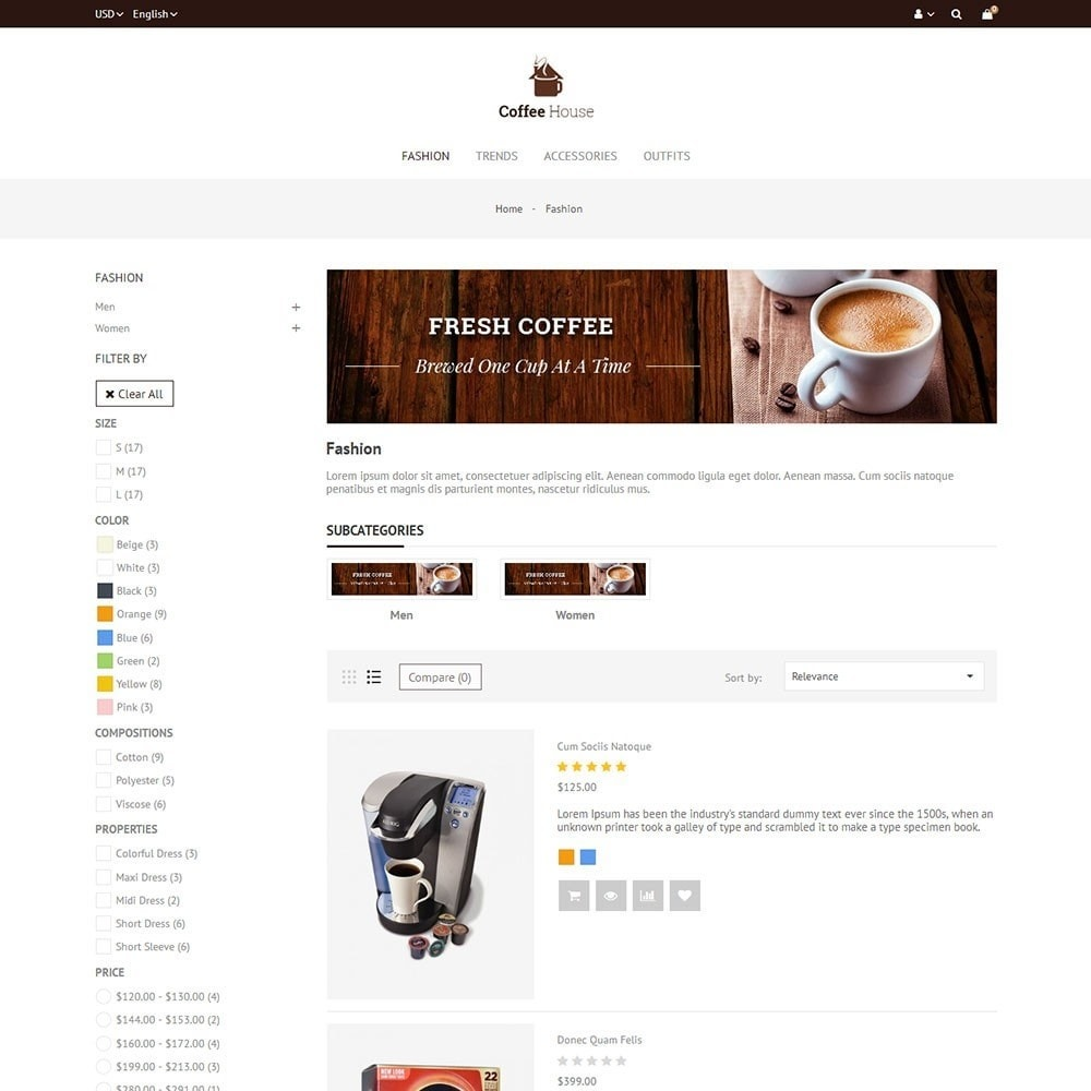 theme - Food & Restaurant - Coffee House Store - 4