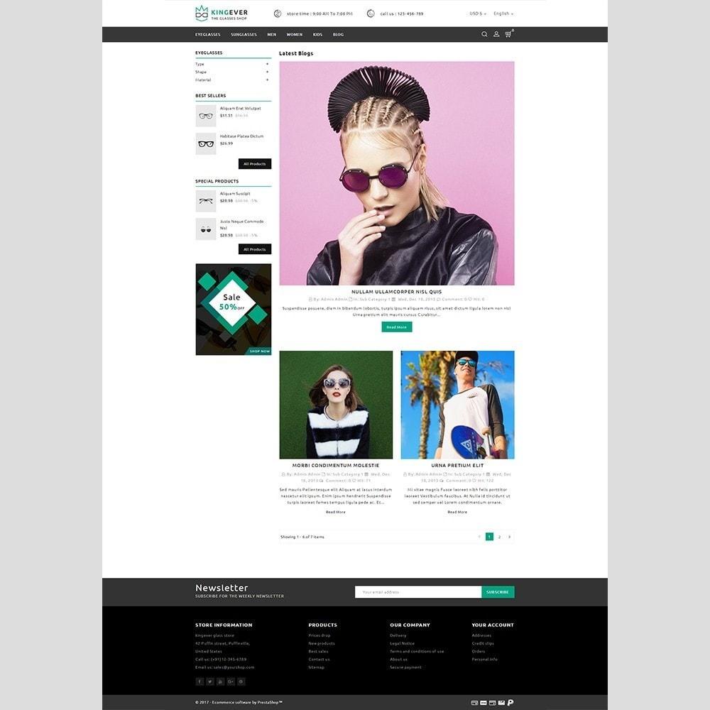 theme - Desporto, Actividades & Viagens - Kingever glasses store - 6