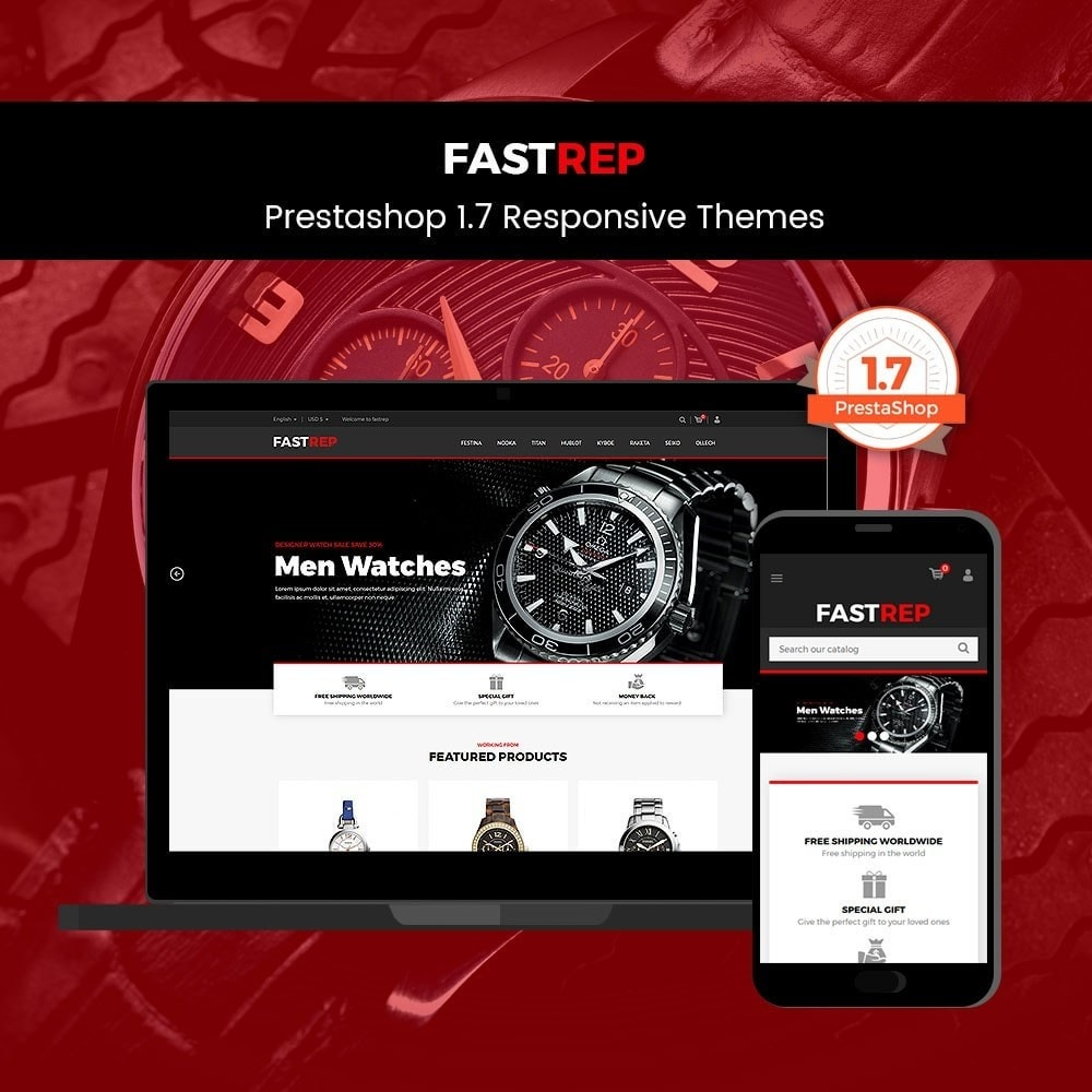 theme - Fashion & Shoes - Fasttrep - Watch Store - 1