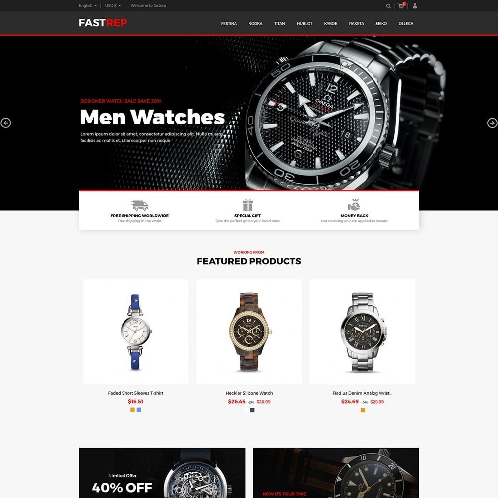 theme - Fashion & Shoes - Fasttrep - Watch Store - 2