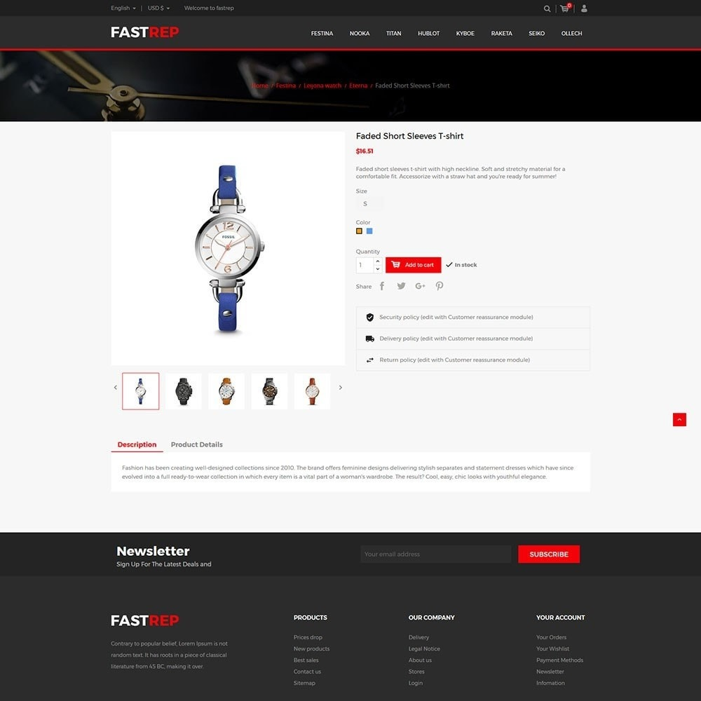 theme - Fashion & Shoes - Fasttrep - Watch Store - 5