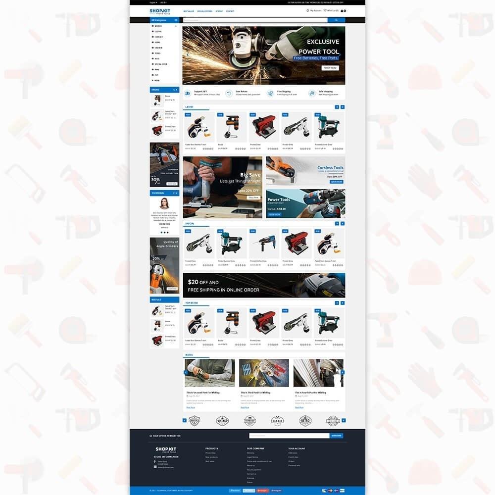 theme - Carros & Motos - Shopkit Power Tools Store - 2