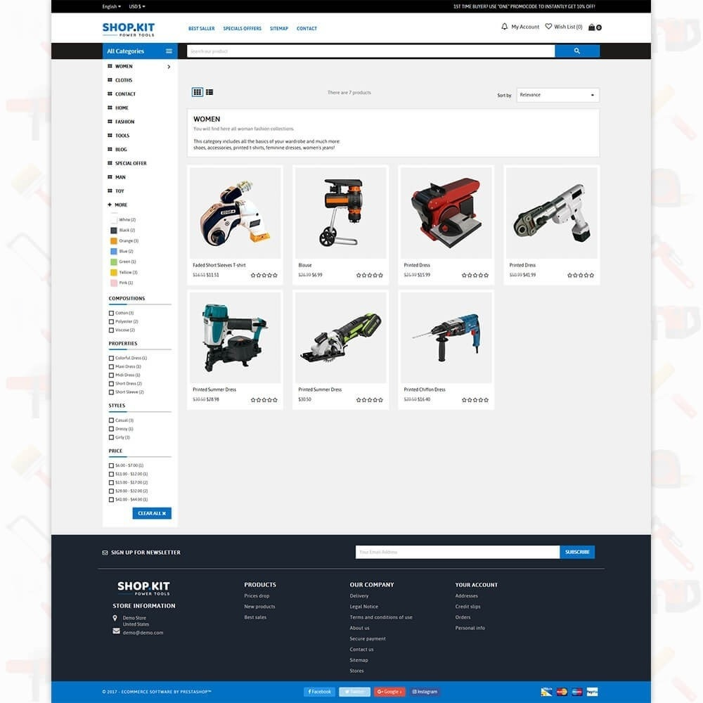 theme - Auto & Moto - Shopkit Power Tools Store - 3