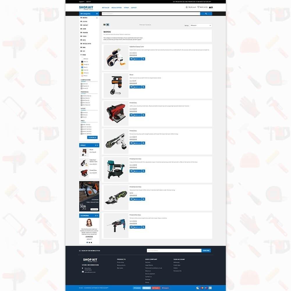 theme - Carros & Motos - Shopkit Power Tools Store - 4