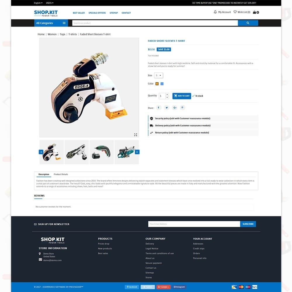 theme - Auto & Moto - Shopkit Power Tools Store - 5