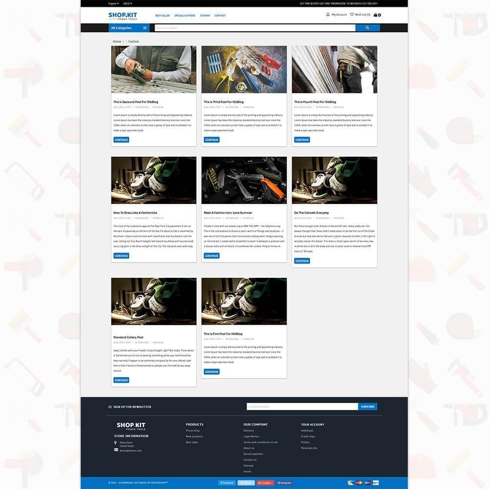theme - Carros & Motos - Shopkit Power Tools Store - 6