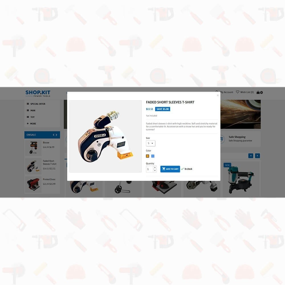 theme - Carros & Motos - Shopkit Power Tools Store - 7