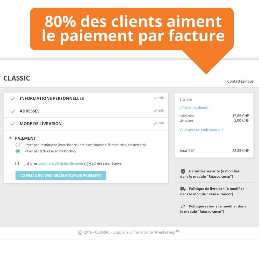 module - Paiement par Facture - Swissbilling - Paiement par facture - 3