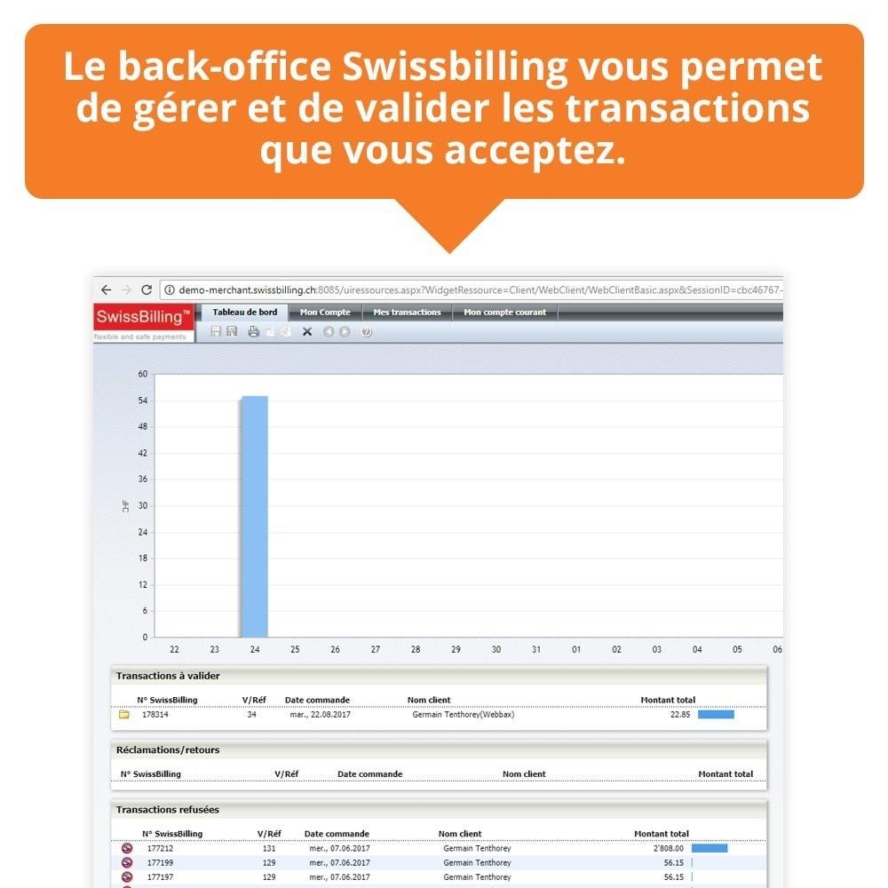 module - Paiement par Facture - Swissbilling - Paiement par facture - 7