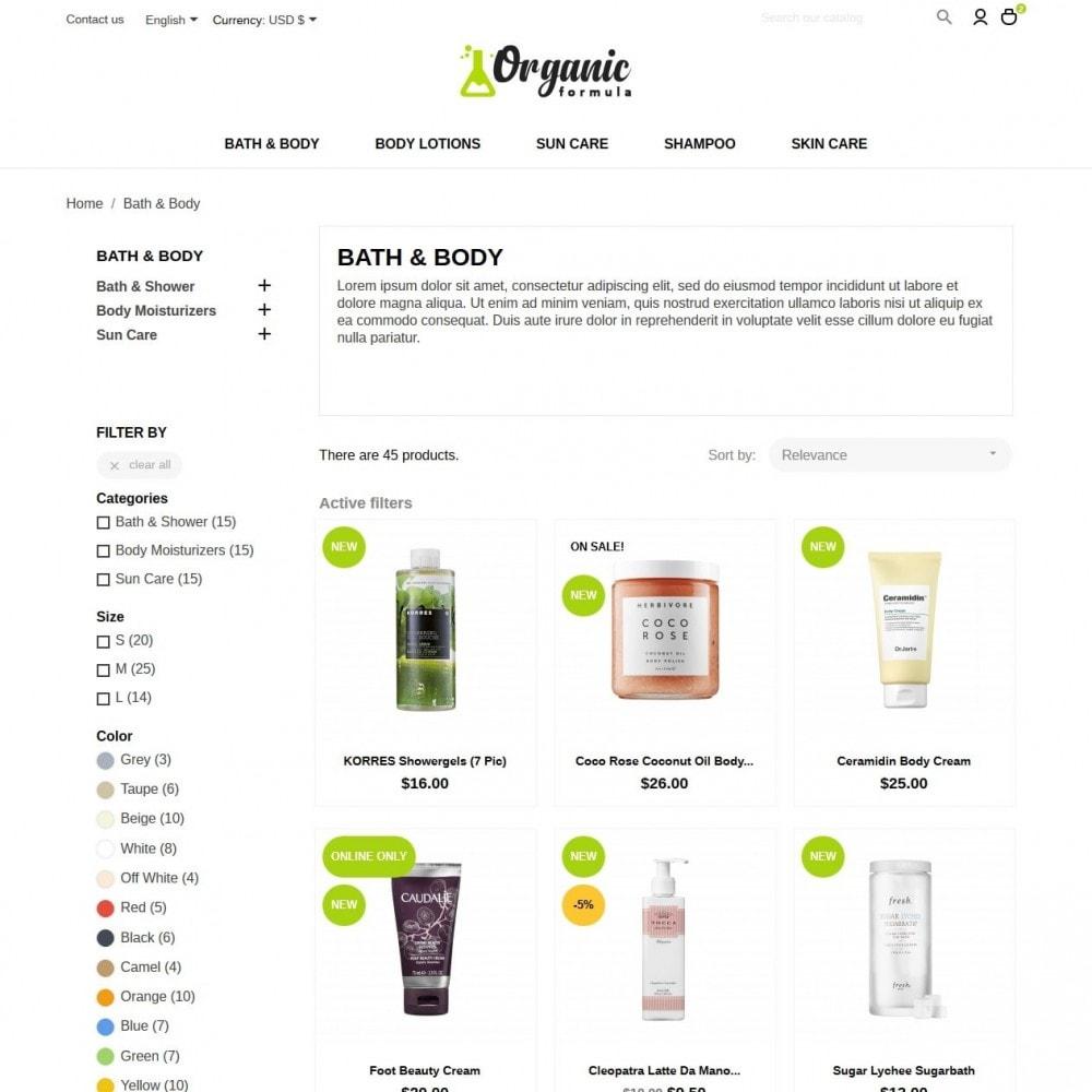theme - Salud y Belleza - OrganicFormula Cosmetics - 5