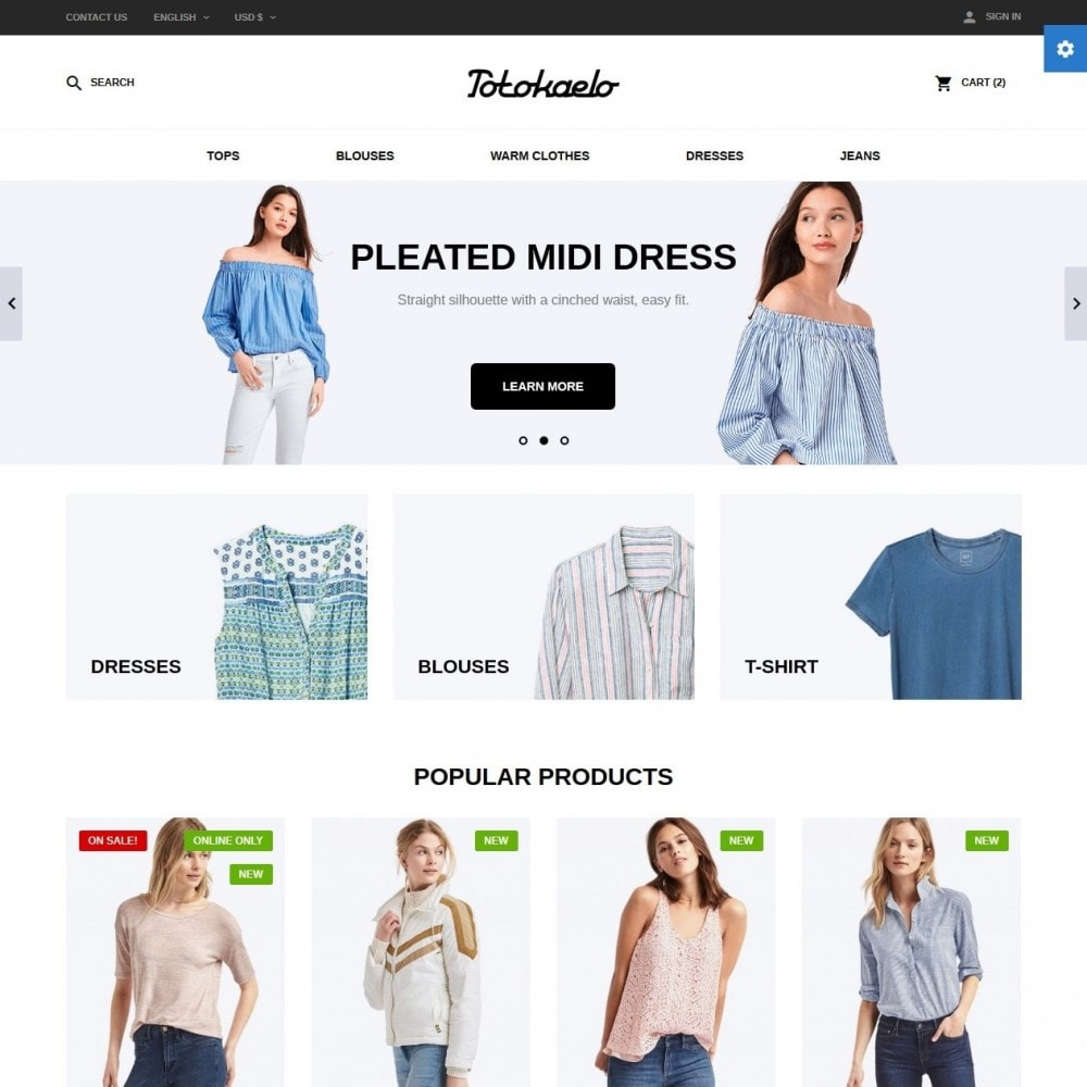 theme - Fashion & Shoes - Totokaelo Fashion Store - 2