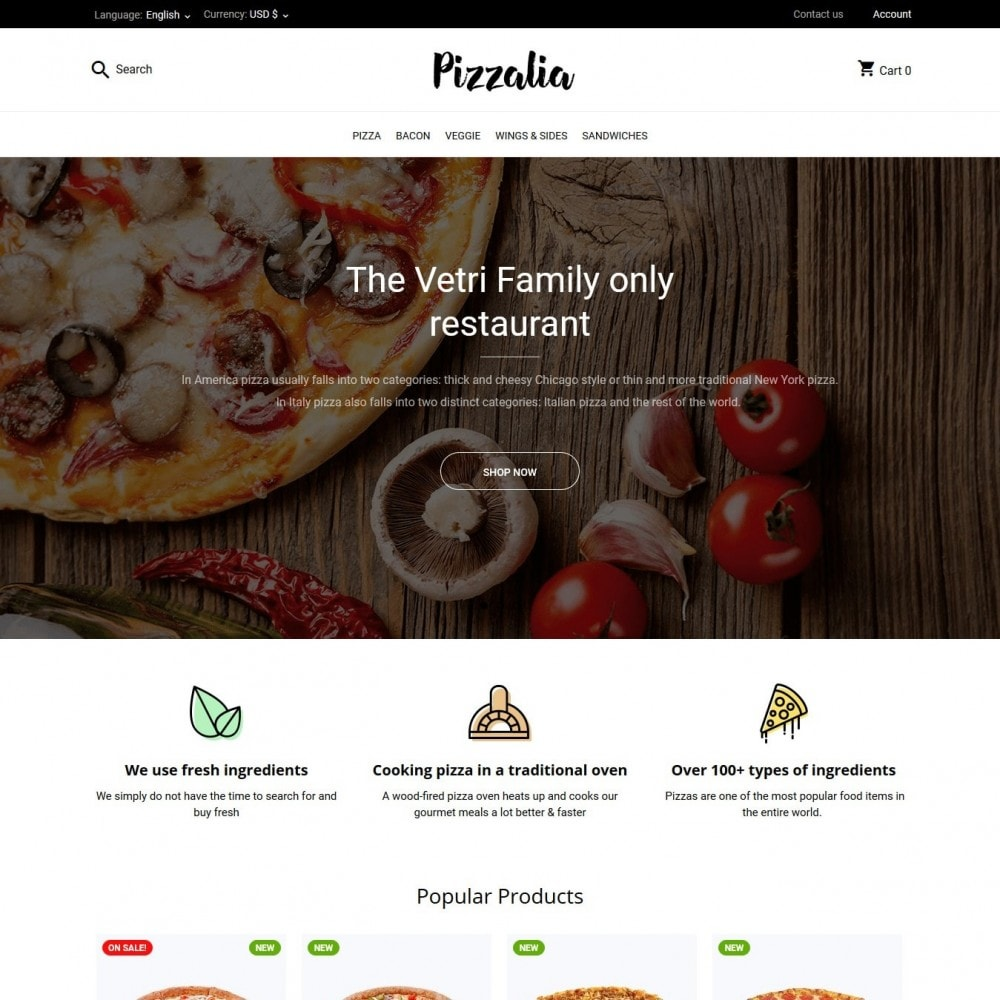 theme - Food & Restaurant - Pizzalia - 2