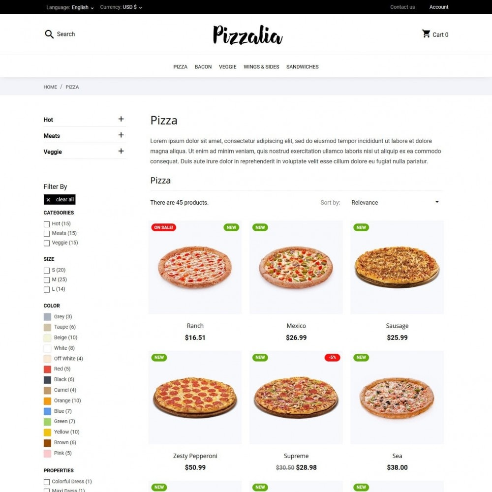 theme - Food & Restaurant - Pizzalia - 5