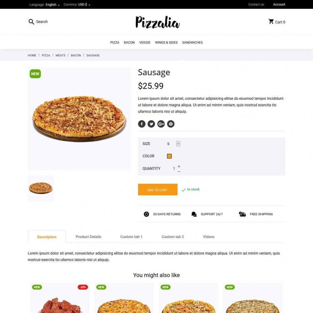 theme - Food & Restaurant - Pizzalia - 6