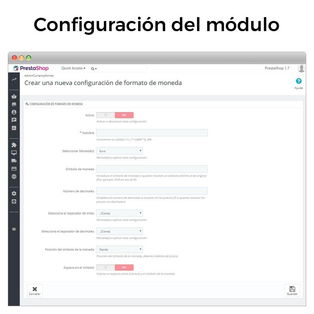 module - Gestión de Precios - Formato de moneda y modificación de decimales - 2