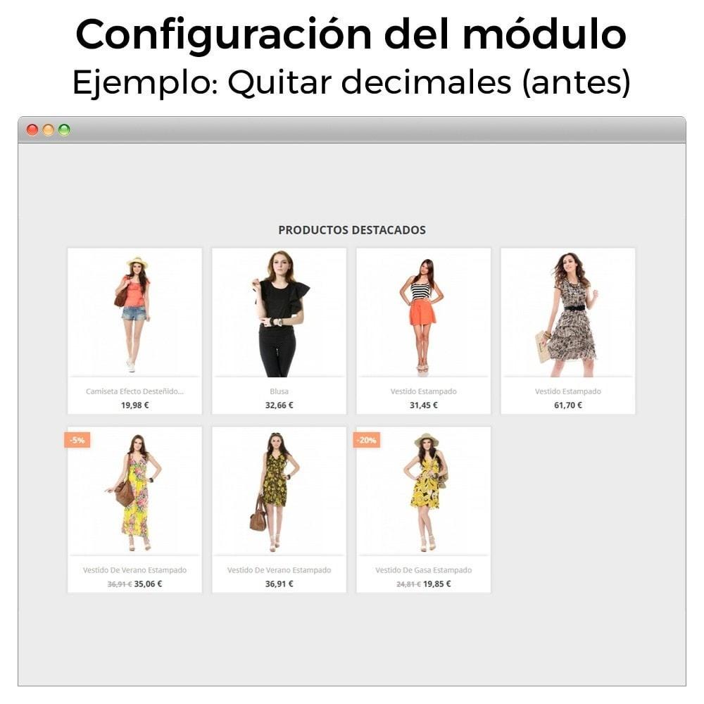 module - Gestión de Precios - Formato de moneda y modificación de decimales - 4